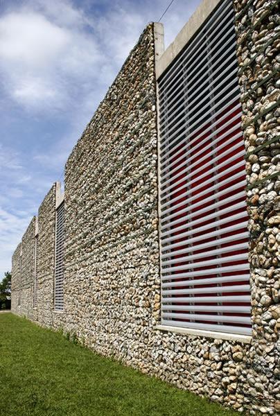 Gabion Wall Design Drawings : Architecture in development villanueva public library