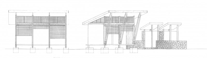 Technical Drawing Front Elevation : Architecture in development pondok tagal